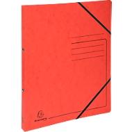 FALKEN ringmap, A4, 2-voudig ringmechanisme, rugbreedte 25 mm, rood