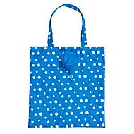 Faltbare Einkaufstasche, Blau, Standard, Auswahl Werbeanbringung optional