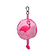 Faltbare Einkaufstasche, Flamingo, Standard, Auswahl Werbeanbringung optional
