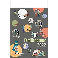 Familien-Kalender, für 5 Personen, B 240 x H 375 mm, mit Werbedruck, Auswahl Werbeanbringung erforderlich