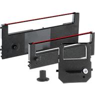 Farbbandkassette für Zeiterfassungsgeräte, schwarz/rot