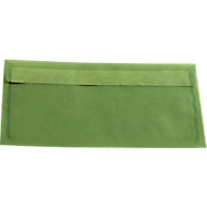 Farbige Briefumschläge DIN lang (110 x 220 mm) ohne Fenster, mit Haftklebung, grün