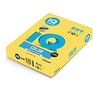 Farbiges Kopierpapier Mondi IQ Color Intensivfarbe, DIN A4, 80 g/m², kanariengelb, 1 Paket = 500 Blatt