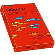 Farbiges Kopierpapier Mondi Rainbow, DIN A3, 80 g/m², intensivrot, 1 Paket = 500 Blatt