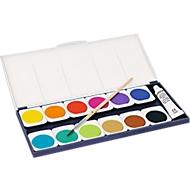 Farbkasten Noris Club® 888, Leicht mischbare Wasserfarben, 12 auswechselbare Töpfchen