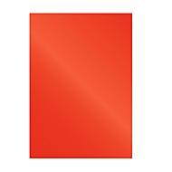 Fellowes Deckblatt Chromolux, Karton, DIN A4, für Draht- und Plastikbindemaschinen, rot, 250g, 100 Stück