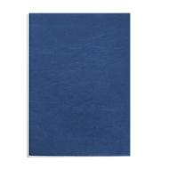 Fellowes Deckblatt Leder, DIN A4, für Bindemaschinen, blau, 250g, 100 Stück