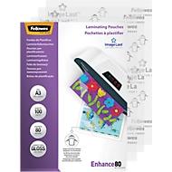 Fellowes® Pochettes à plasifier, A3, 80 microns, 100 pièces