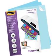 Fellowes® Pochettes de plastification, adhésives, format A4, paquet de 100 pièces