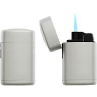 Feuerzeug Atomic Jet, mit Soft-Touch-Oberfläche, regulierbare Flamme, nachfüllbar, silber