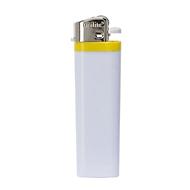 Feuerzeug, Reibrad - Einweg - Kunststoff, Gelb, Auswahl Werbeanbringung optional