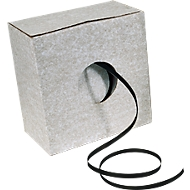 Feuillard plastique en carton de distribution 12,7 x 0,5 mm, 1000 m