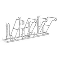 Fietsenrek WSM, 1-zijdig, voor banden tot B 55 mm, B 2000 x D 390 x H 800 mm, staal gegalvaniseerd, 4 parkeerplekken
