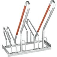 Fietsenrek WSM, enkelzijdig, voor banden tot B 55 mm, B 700 x D 385 x H 815 mm, gegalvaniseerd staal, 2 parkeerplaatsen