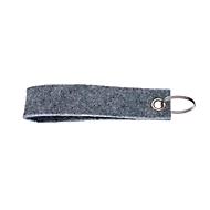 Filz-Schlüsselanhänger Basic, inkl. Schlüsselring, Grau, Auswahl Werbeanbringung optional