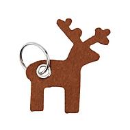 Filz-Schlüsselanhänger - mit Schlüsselrin, Elch, Auswahl Werbeanbringung optional