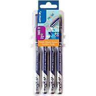 Fineliner FriXion 4er-Set Neon, Kunststoffspitze, Strichstärke 0,45 mm, radierbar, 4 Neonfarben