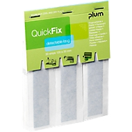 Fingerverbände QuickFix Detectable Long, Nachfüllpack f. Spender, m. Metallfläche, 6 x 30 St.