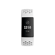 Fitbit Charge 3 Special Edition - graphite - Aktivitätsmesser mit Sportband - White Frost