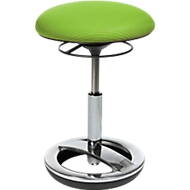 Fitness-Hocker SITNESS BOB, ergonomisches Sitzen, Sitzhöhe 440 bis 570 mm, apfelgrün, Gestell verchromt