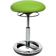 Fitnesskruk SITNESS BOB, ergonomische zitting, zithoogte 440 tot 570 mm, appelgroen, onderstel verchroomd