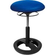 Fitnesskruk SITNESS BOB, ergonomische zitting, zithoogte 440 tot 570 mm, blauw, onderstel zwart gepoedercoat