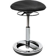 Fitnesskruk SITNESS BOB, ergonomische zitting, zithoogte 440 tot 570 mm, zwart, onderstel verchroomd