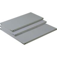 FIX Stalen legbord, D 400 x H 40 mm, 150 kg draagvermogen, zonder aanslag