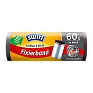 Fixierband-Müllbeutel von Swirl®, 60 Liter, 10 Stück