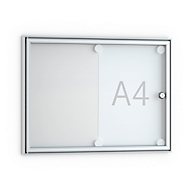 Flach-Schaukasten, spitz, 2 x DIN A4, Glastür m. Rahmen