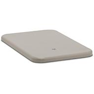 Flachdeckel für Rechteckbehälter, 100 l/ 200 l hoch, grau