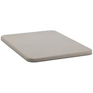 Flachdeckel für Rechteckbehälter, 1100 l, grau