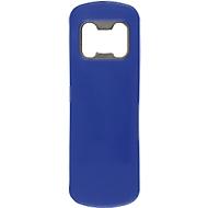 "Flaschenöffner ""Bartender"", Kunststoff/Stahl, blau, B102xT35xH4 mm, WAB B55xT25 mm"