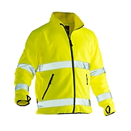 Fleece Jacke Jobman 5502 PRACTICAL, Hi-Vis, EN ISO 20471 Klasse 3, gelb, Polyester, XS