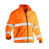 Fleece Jacke Jobman 5502 PRACTICAL, Hi-Vis, EN ISO 20471 Klasse 3, orange, Polyester, L