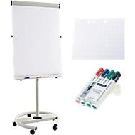 Flipchart Business RD 617, mobil, inkl. 40 Blatt Flipchartpapier und 4 Boardmarkern