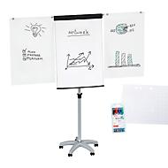 Flipchart Maul MAULstandard, hauteur ajustable, format portrait, bloc de papier + marqueurs de couleurs assorties