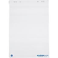 Flipoverblok met gerecycled papier, 5 x 20 vellen, 80 g, blanco