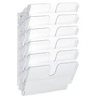 Folderdispensersysteem Flexiplus, voor 6 x A4 liggend