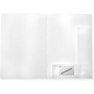 FolderSys Angebotsmappe PP, für DIN A4, 10 Sichthüllen, 10 Stück, weiß
