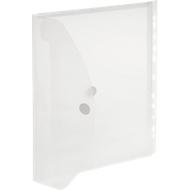 FolderSys documenthoes, A4, klittenbandsluiting, PP, doorschijnend kleurloos