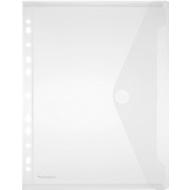 FolderSys documenthoes, A4, met klittenbandsluiting, 10 stuks, doorschijnend