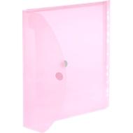 FolderSys Dokumententasche, DIN A4, Klettverschluss, PP, transluzent rot