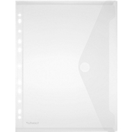 FolderSys Dokumententasche, DIN A4, mit Klettverschluss, 10 Stück, transluzent