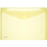 FolderSys Dokumententasche, DIN A4 quer, Klettverschluss, PP, gelb
