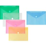 FolderSys Dokumententasche, DIN A5 quer, Klettverschluss, PP, farbsortiert