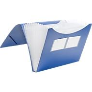 FolderSys Fächermappe, 12 Fächer, DIN A4-Format, Eckspann-Gummi, blau