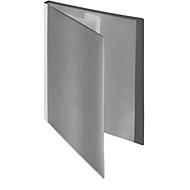 FolderSys presentatiemap met vak vooraan, voor A4-formaat, 10 hoesjes, grijs