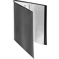 FolderSys presentatiemap met vak vooraan, voor A4-formaat, 40 hoesjes, zwart