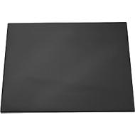 Folie-schrijfonderlegger met transparant dekblad, zwart